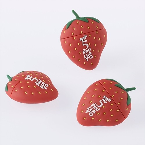 usb stick σε σχήμα φράουλας